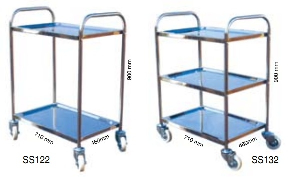 Stainless Steel Hand-Pushed Cart